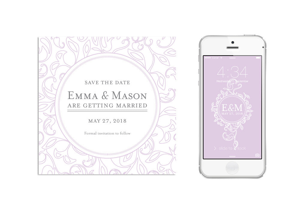 Monogram Save the Date (digital)