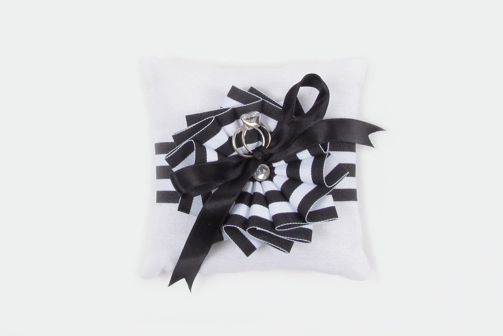 Black and White Ring Pillow