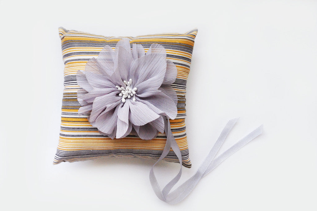 Multi Stripe Ring Pillow