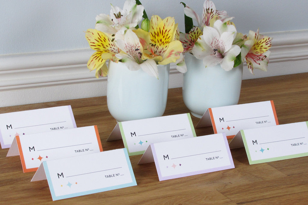 Carousel Place Cards