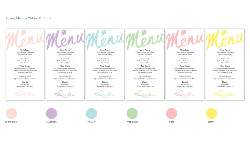 Lovely Menu