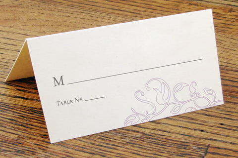Monogram Place Cards