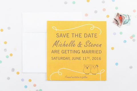 Owl Always Love You Save the Date