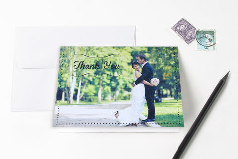 So Chic Photo Thank You Card