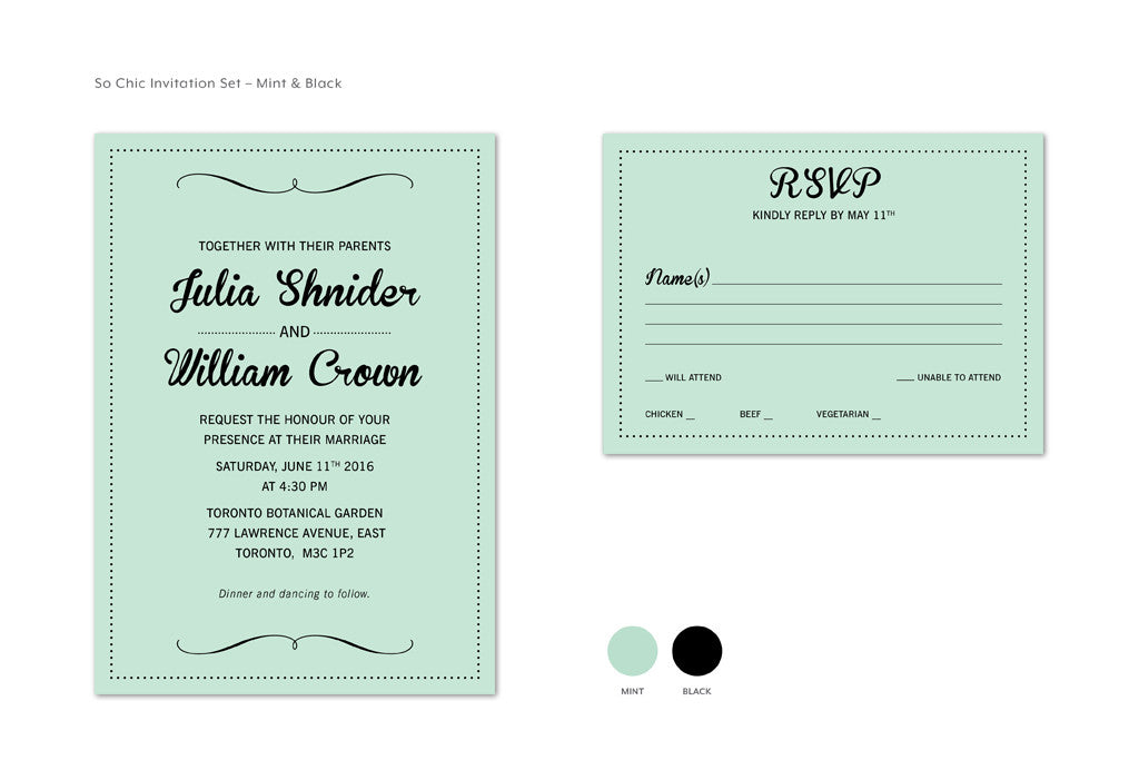 So Chic Invitation Set