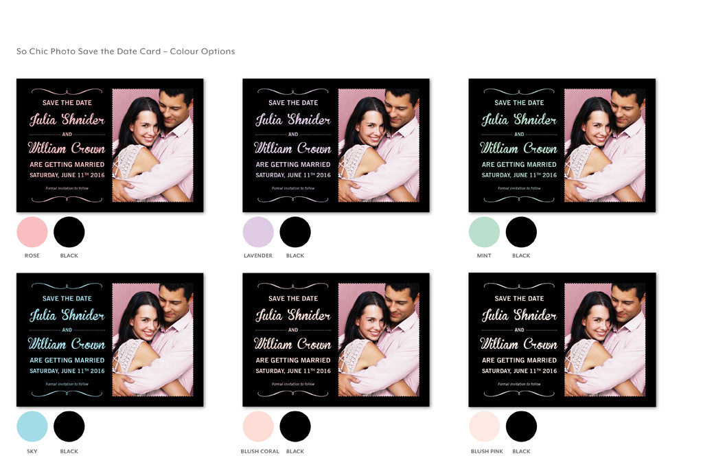 So Chic Photo Save the Date (digital)