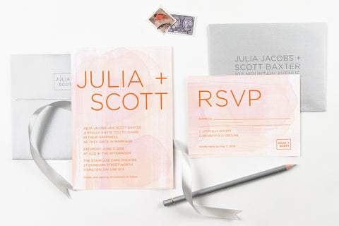 New! Watercolour Invitation Set