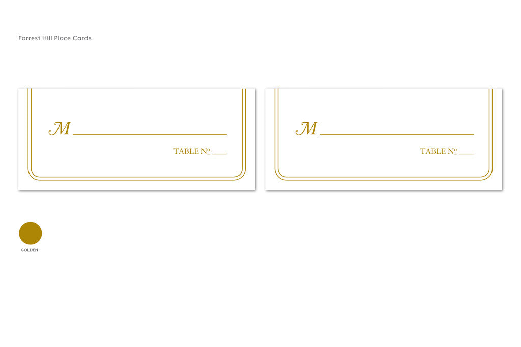 Forest Hill Place Cards