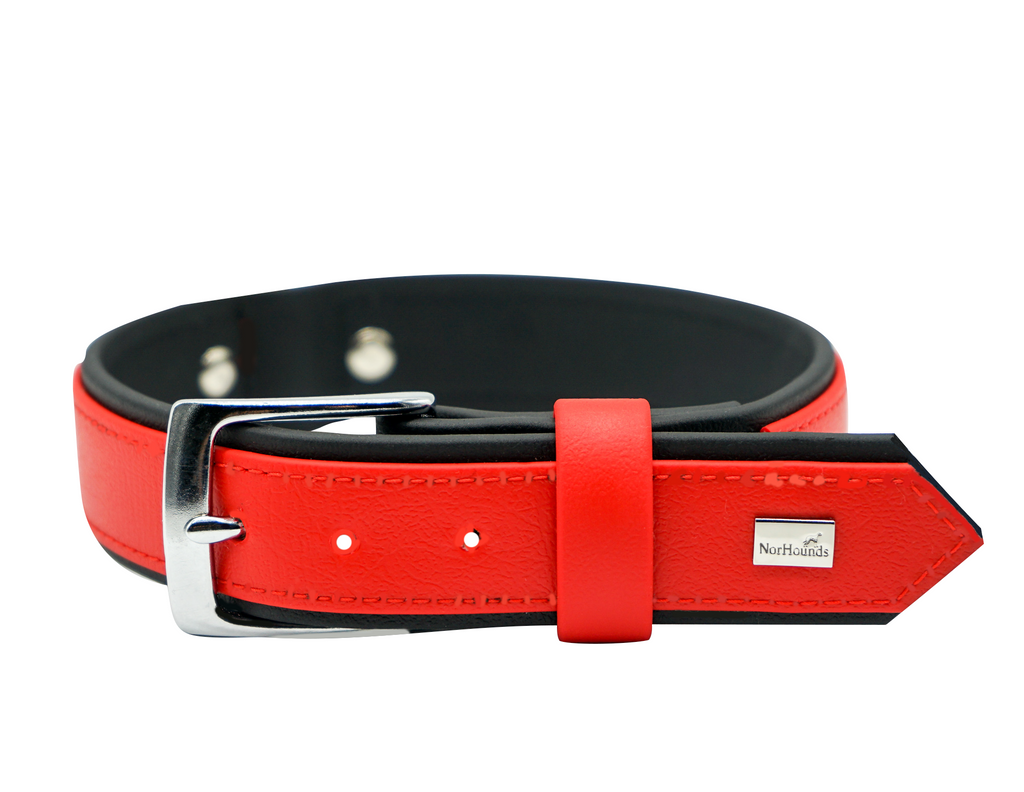Embossed Vegan Leather Collar