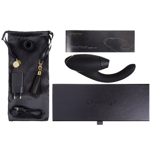 Womanizer Inside Out Vibrator by Womanizer | Black and Gold | Lexi Sylver