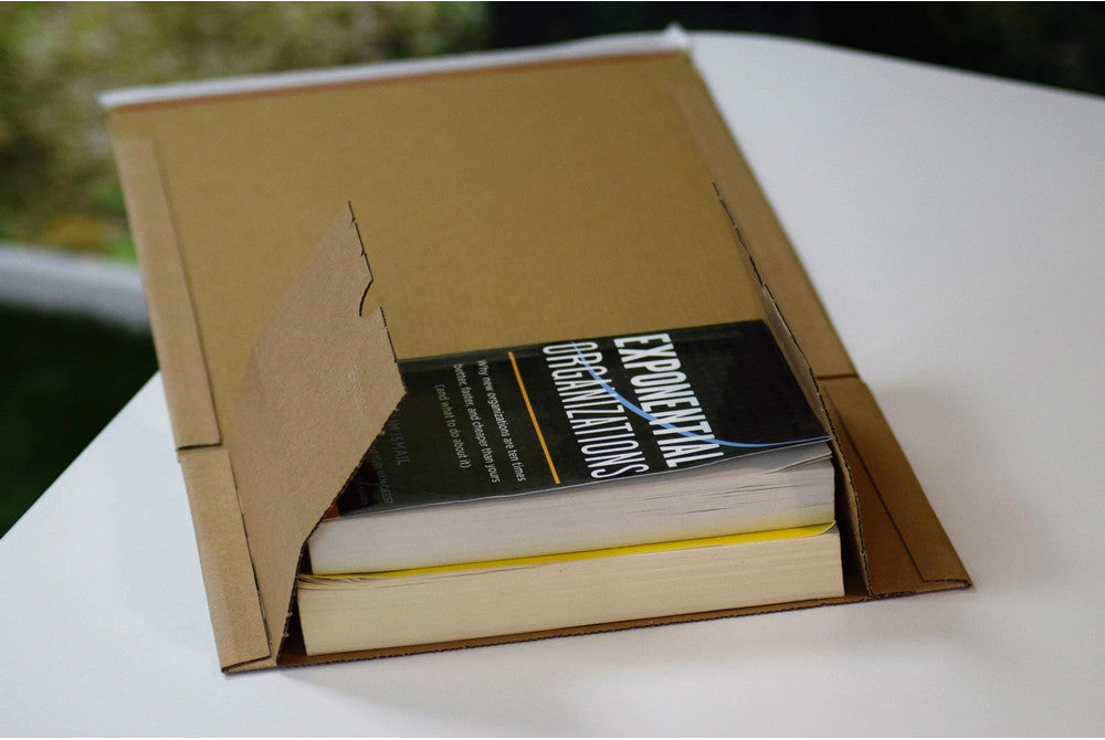 All-Paper Brown Manilla Book Wraps & Boxes