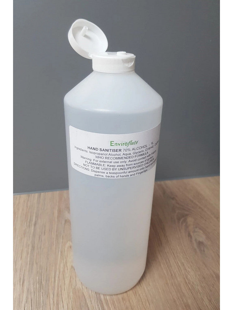 **BULK**10 x 1L Hand Santiser Alcohol Liquid Flip Top 70%, (price includes delivery) - from £19.99 Ex Vat