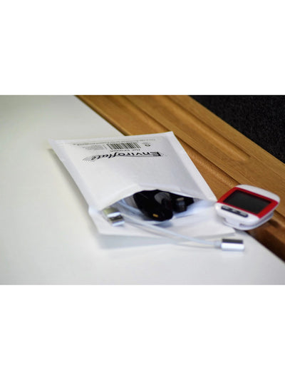 Black Print onto 110 x 165mm Enviroflute Eco-Padded Bag EF000/A