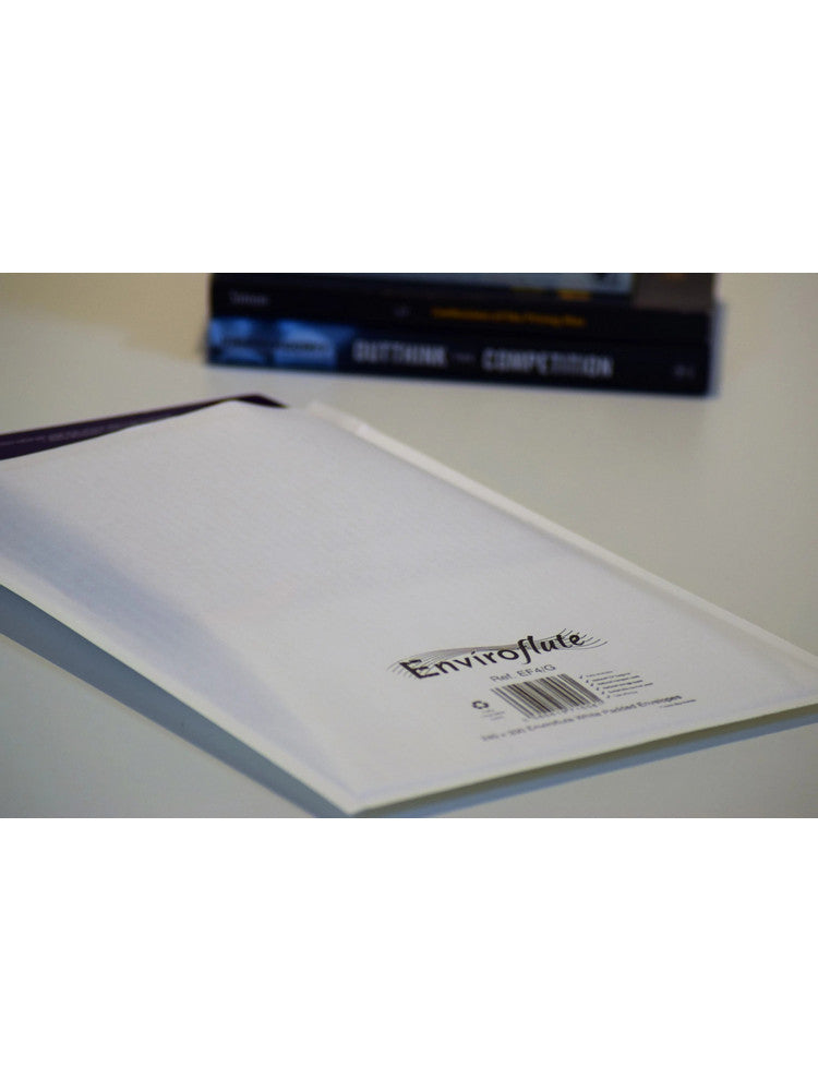 Black Print onto 240 x 330mm Enviroflute Eco-friendly Padded Bag EF4/G