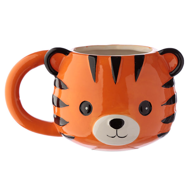 Ceramic Animal Shaped Head Mug - Tiger