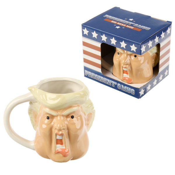 Donald Trump head mug