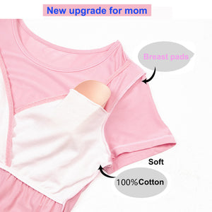 Fashion Pregnancy/Breastfeeding T shirt (including the breast pads) - Childzstuff