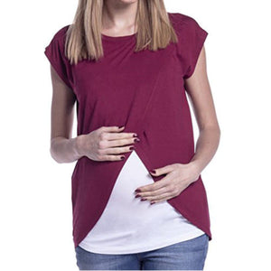 Short Sleeve Breastfeeding Top - Childzstuff