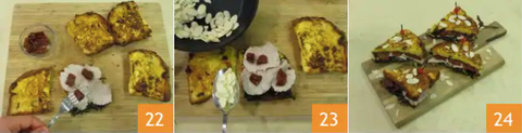 Panettone Sandwich recipe preparation 8