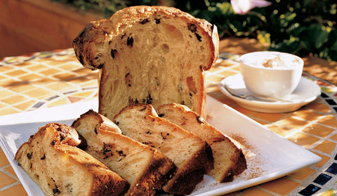 Panettone Sliced and Coffee