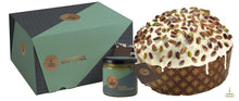 Load image into Gallery viewer, Fiasconaro | Pistachio Panettone Flavour With Pistachio Cream Spreader | 1kg