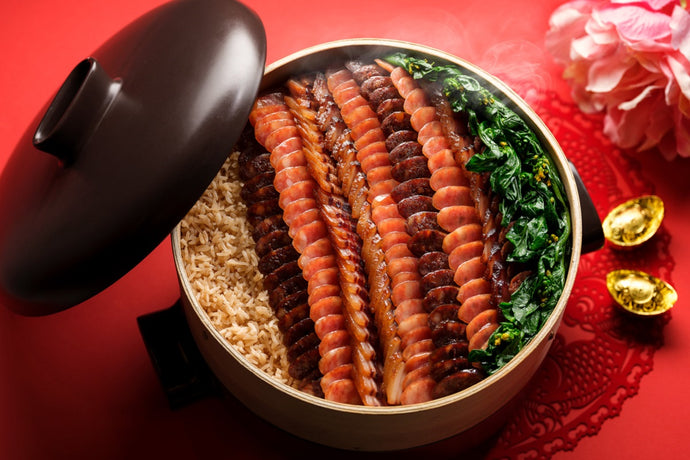 Clay Pot Rice with Selection of Premium Waxed Meats and Chinese Sausage