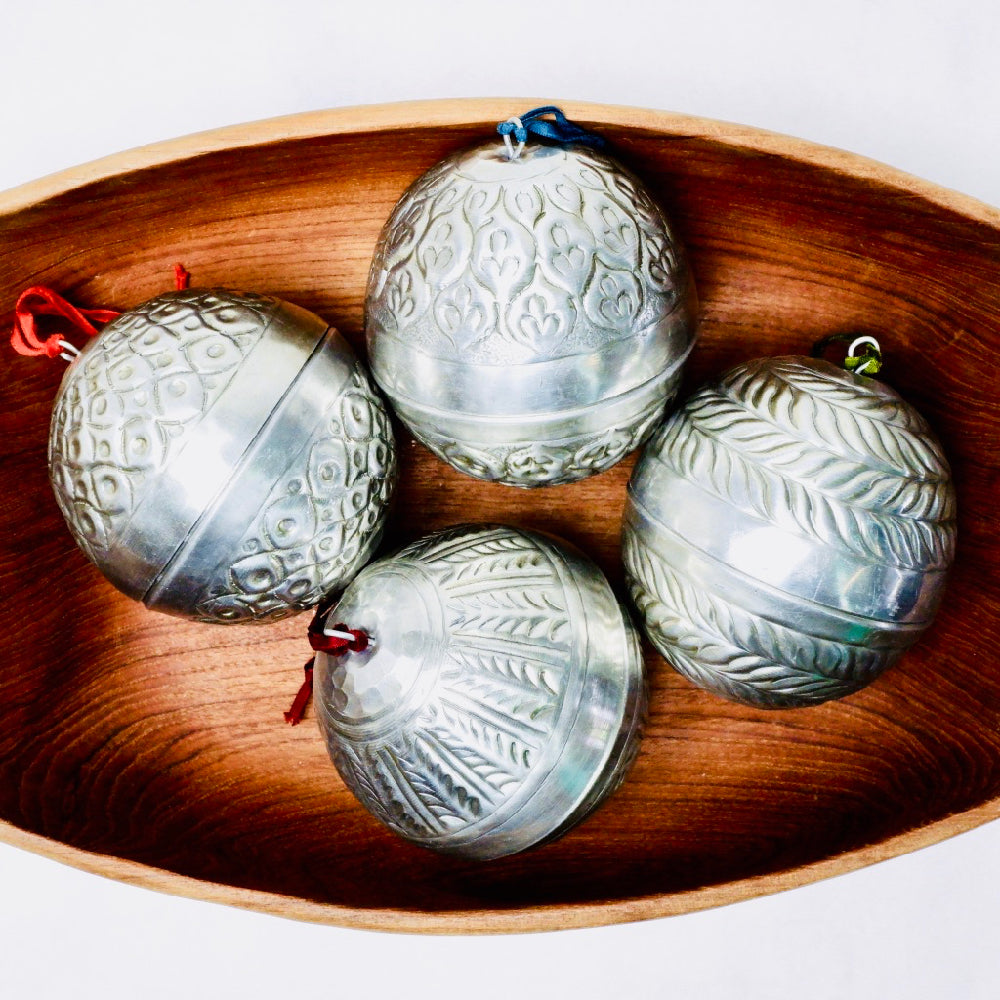 INDIAN ORNAMENT, ROUND (Set of 4)