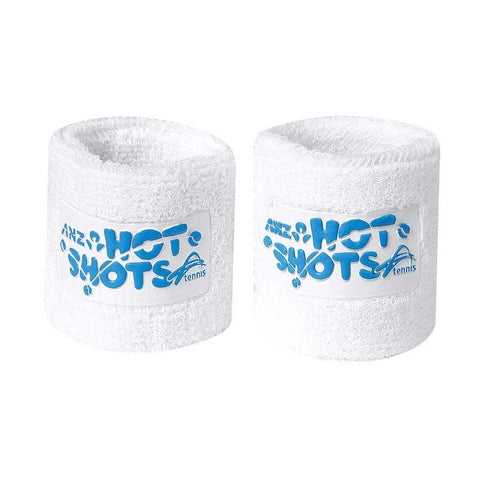 Hot Shots Tennis Wrists Bands - White and Blue