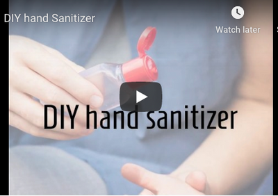 DIY Soapbark Hand Sanitizer