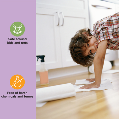 How are Cleanclean cleaners safe for children?