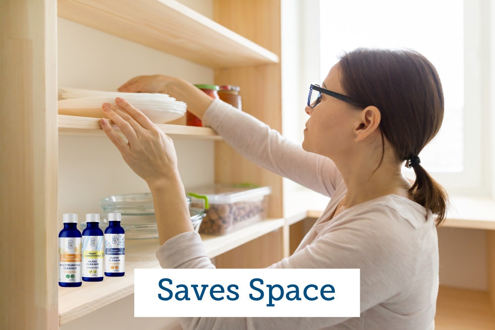 save space in your pantry with cleanclean concentrated cleaners
