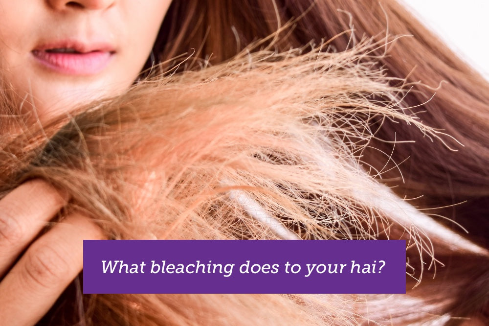 using soapbark to prevent dry hair from bleaching