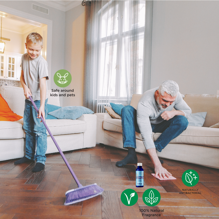 cleancelan concetrated floor cleaner is safe for kids, 100 percent natural cleaner and naturally antibacterial.
