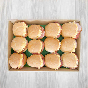 Breakfast savoury slider box (served warm) | Mushroom Catering