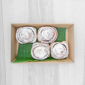Cinnamon bun box (served warm) |Mushroom Catering, Sydney's Premier Corporate, Private and Event Caterers