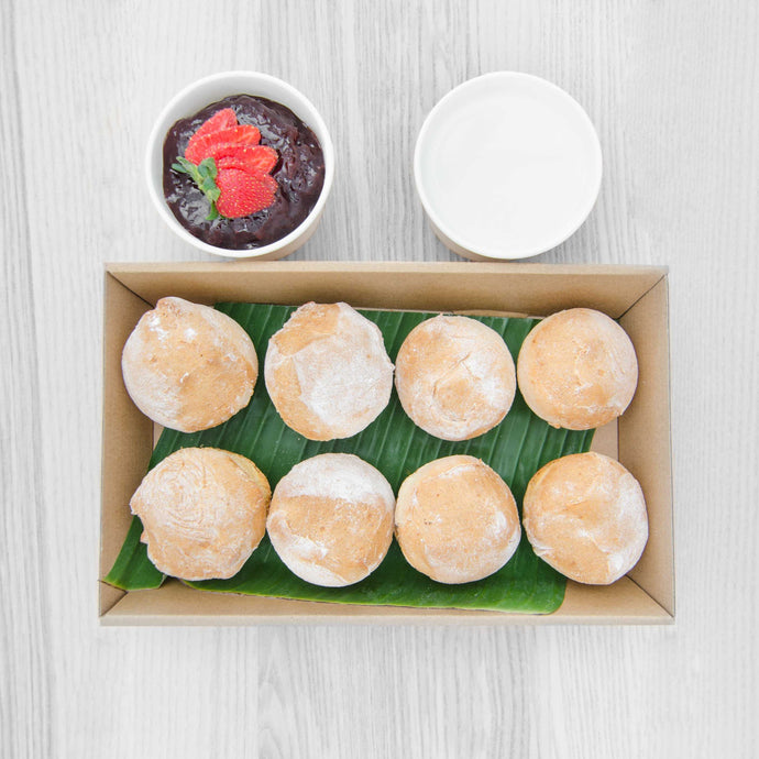Cocktail Scone box (served warm) | Mushroom Catering, Sydney's Premier Corporate, Private and Event Caterers