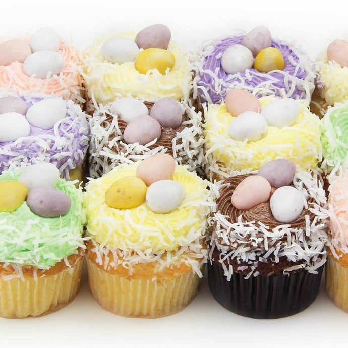 Easter Egg Cupcakes - box of 12 assorted vanilla & chocolate | Mushroom Catering, Sydney's Premier Corporate, Private and Event Caterers