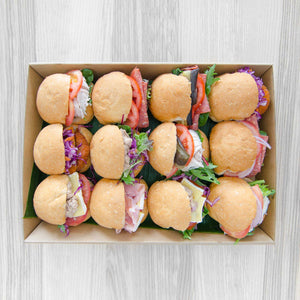 Gourmet rustic roll box (assorted fillings) | Mushroom Catering, Sydney's Premier Corporate, Private and Event Caterers