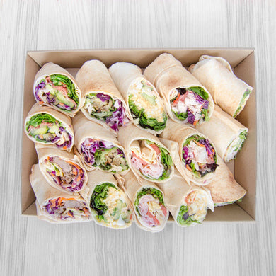 Soft Lebanese Wraps box (assorted fillings) | Mushroom Catering, Sydney's Premier Corporate, Private and Event Caterers