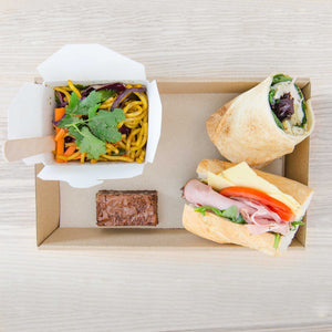 Mixed bread, Salad box & sweet Package