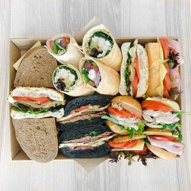 Mixed Gourmet Breads box (assorted fillings) | Mushroom Catering, Sydney's Premier Corporate, Private and Event Caterers