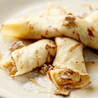Breakfast Crepe - Banana/Nutella & Walnut | Mushroom Catering