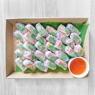 Peking duck Vietnamese rice paper roll box (30) | Mushroom Catering