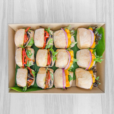 Vegan roll box | Mushroom Catering, Sydney's Premier Corporate, Private and Event Caterers