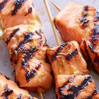 Mini Skewer Char-grilled Atlantic Salmon | Mushroom Catering, Sydney's Premier Corporate, Private and Event Caterers