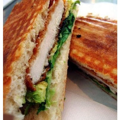Herbed Chicken Schnitzel on Turkish bread | Mushroom Catering, Sydney's Premier Corporate, Private and Event Caterers