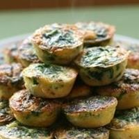 Mini Spinach & Herbed Feta Quiche
