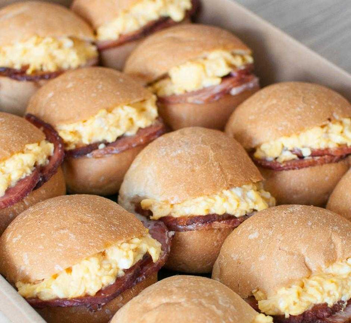 Petite Breakfast Sliders | Mushroom Catering, Sydney's Premier Corporate, Private and Event Caterers