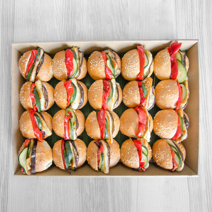 Mini vegetarian sliders platter (served warm) | Mushroom Catering, Sydney's Premier Corporate, Private and Event Caterers