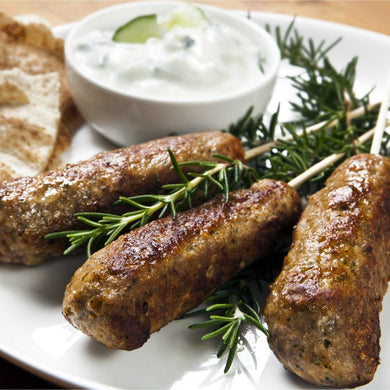 Seared Lamb Kofta Skewer w/ cumin infused tzatziki